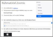 Rühmatööd Zoomis